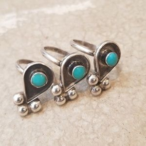 Jewelry - Estate Old Pawn Knuckle Layer Turquoise Ring